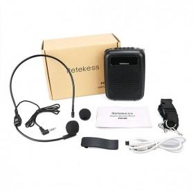 RETEKESS Megaphone Mikrofon Penguat Suara Audio Tourguide Speaker 12W - PR16R - Black - 8