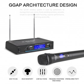G-MARK Audio Console Karaoke KTV Mixer 2 Channel with 2 Wireless Mic - G210V - Black - 3