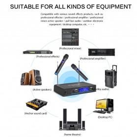 G-MARK Audio Console Karaoke KTV Mixer 2 Channel with 2 Wireless Mic - G210V - Black - 6