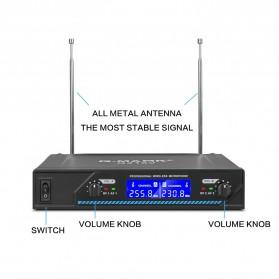 G-MARK Audio Console Karaoke KTV Mixer 2 Channel with 2 Wireless Mic - G210V - Black - 8