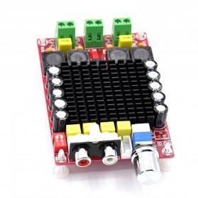 TCXRE Audio Digital Amplifier 2.0 Channel Amp 2x100W TDA7498 - XH-M510 - Red