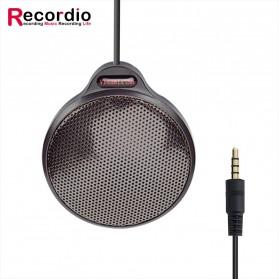 RECORDIO 360 Degree Microphone Table Conference Zoom Meeting Studio - ZY-105C - Black - 1