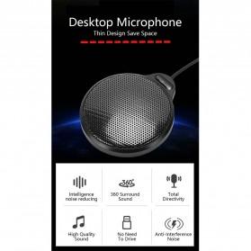 RECORDIO 360 Degree Microphone Table Conference Zoom Meeting Studio - ZY-105C - Black - 2