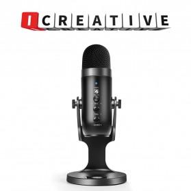 ICREATIVE Microphone Condenser USB Mikrofon Kondensor Studio with Stand - JD-900 - Black