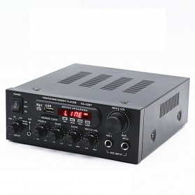 CLAITE Bluetooth EQ Audio Amplifier Karaoke Home Theater FM Radio 1000W - KS-33BT - Black