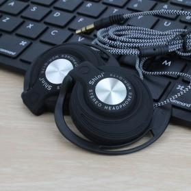 Shini Earhook Clip-on Headphone Sporty - Q170 - Black