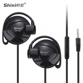 Shini Earhook Clip-on Headphone Sporty - SN-666 - Black