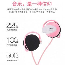 Shini Earhook Clip-on Headphone Sporty - SN-666 - Black - 3