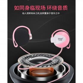 Shini Earhook Clip-on Headphone Sporty - SN-666 - Black - 11