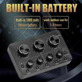 Sovawin Audio USB External Soundcard Live Broadcast Microphone Headset - SH-1A8 - Black - 10
