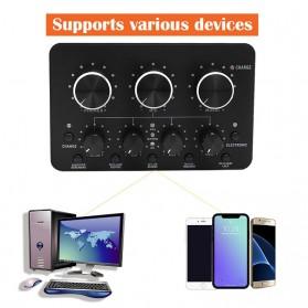 Sovawin Audio USB External Soundcard Live Broadcast Microphone Headset - SH-1A8 - Black - 2