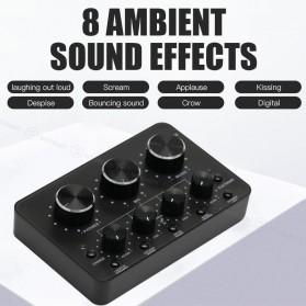Sovawin Audio USB External Soundcard Live Broadcast Microphone Headset - SH-1A8 - Black - 7