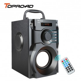 TOPROAD Bluetooth Speaker Heavy Bass FM TF AUX USB with Remote Control - A11 - Black