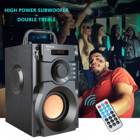 TOPROAD Bluetooth Speaker Heavy Bass FM TF AUX USB with Remote Control - A11 - Black - 8