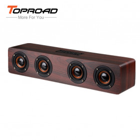 TOPROAD Soundbar Bluetooth Speaker Stereo Subwoofer - W8 - Brown