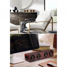 TOPROAD Soundbar Bluetooth Speaker Stereo Subwoofer - W8 - Brown - 9