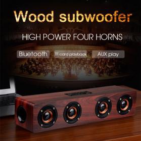 TOPROAD Soundbar Bluetooth Speaker Stereo Subwoofer - W8 - Brown - 2