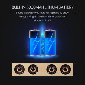 TOPROAD Soundbar Bluetooth Speaker Stereo Subwoofer - W8 - Brown - 3