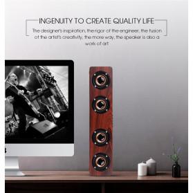 TOPROAD Soundbar Bluetooth Speaker Stereo Subwoofer - W8 - Brown - 7