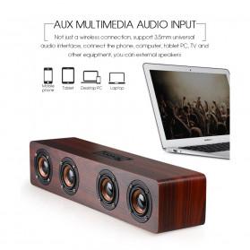 TOPROAD Soundbar Bluetooth Speaker Stereo Subwoofer - W8 - Brown - 8