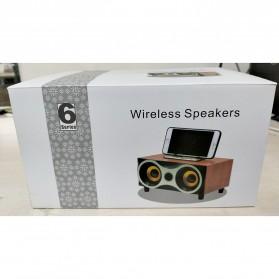 TOPROAD Portable Bluetooth Speaker Subwoofer FM Radio Wood Design 2000mAh - XM6 - Brown - 11