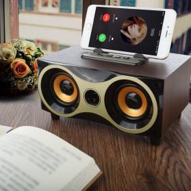 TOPROAD Portable Bluetooth Speaker Subwoofer FM Radio Wood Design 2000mAh - XM6 - Brown - 5