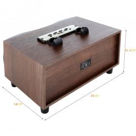 TOPROAD Portable Bluetooth Speaker Subwoofer FM Radio Wood Design 2000mAh - XM6 - Brown - 7