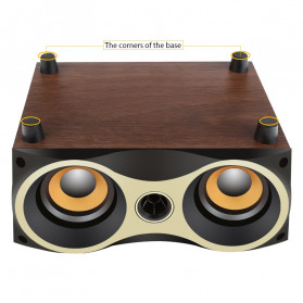 TOPROAD Portable Bluetooth Speaker Subwoofer FM Radio Wood Design 2000mAh - XM6 - Brown - 9