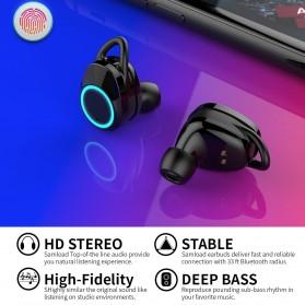 Samload TWS Sport True Wireless Bluetooth Earphone Headset with Charging Case - X8 - Black - 4