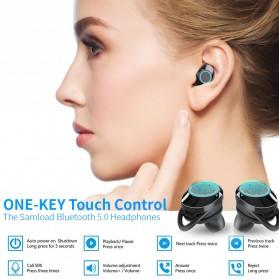 Samload TWS Sport True Wireless Bluetooth Earphone Headset with Charging Case - X8 - Black - 6