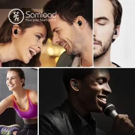 Samload TWS Sport True Wireless Bluetooth Earphone Headset with Charging Case - X8 - Black - 7