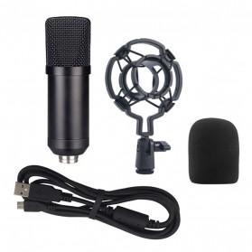 TaffSTUDIO Mikrofon Kondenser Studio USB dengan Shock Proof Mount - BM-700 - Black