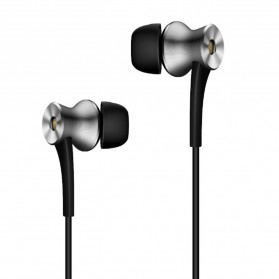 1More Earphone Dual Driver ANC 3.5mm dengan Mic - E1004 (Replika 1:1) - Black