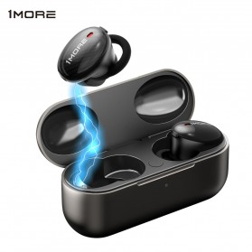 Xiaomi 1More TWS Earphone Bluetooth 5.0 aptX ANC with Charging Case  - EHD9001TA - Black
