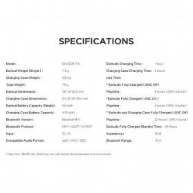 Xiaomi 1More TWS Earphone Bluetooth 5.0 aptX ANC with Charging Case  - EHD9001TA - Black - 10