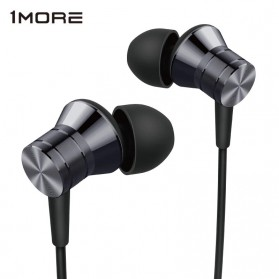 1More Piston Metal Stereo Earphone with Mic - E1009 (Original) - Gray