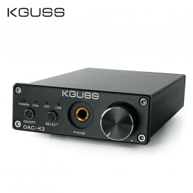 KGUSS DAC-K3 Mini HiFi USB Digital Audio Decoder 24Bit/192KHz - Black