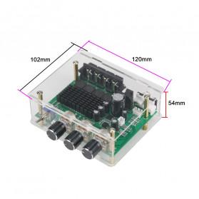 GHXAMP Stereo Audio Amplifier Speaker TPA3116D2 80Wx2 - XH-M570 - Black - 4