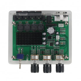 GHXAMP Stereo Audio Amplifier Speaker TPA3116D2 80Wx2 - XH-M570 - Black - 5