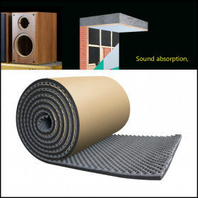 GHXAMP Busa Telur Peredam Suara Acoustic Foam Soundproof Noise Reduction 0.2 Meter x 1 Meter - XH-M1 - Black