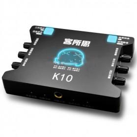 XOX Audio USB External Soundcard Live Boardcast Microphone Headset - K10 - Black - 2