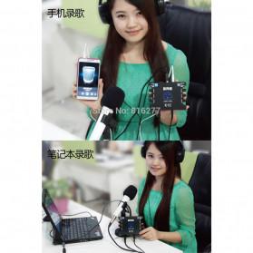XOX Audio USB External Soundcard Live Boardcast Microphone Headset - K10 - Black - 4