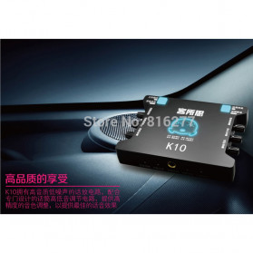 XOX Audio USB External Soundcard Live Boardcast Microphone Headset - K10 - Black - 5