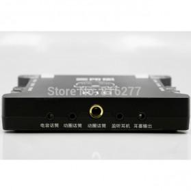 XOX Audio USB External Soundcard Live Boardcast Microphone Headset - K10 - Black - 9