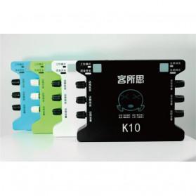 XOX Audio USB External Soundcard Live Boardcast Microphone Headset - K10 - Black - 10