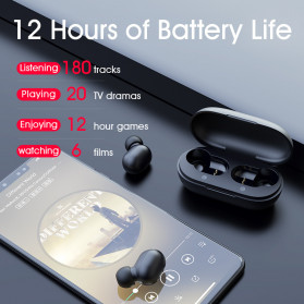 Haylou Earphone TWS Bluetooth 5.0 Fingerprint Touch with Charging Case - GT1 - Black - 6