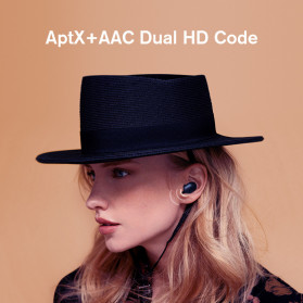Haylou Earphone TWS Bluetooth 5.0 AptX Fingerprint Touch with Charging Base - GT1 Plus - Black - 2