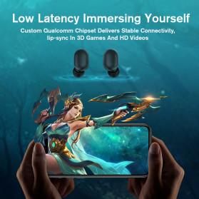 Haylou Earphone TWS Bluetooth 5.0 AptX Fingerprint Touch with Charging Base - GT1 Plus - Black - 3
