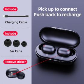 Haylou Earphone TWS Bluetooth 5.0 AptX Fingerprint Touch with Charging Base - GT1 Plus - Black - 5