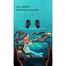 Haylou Earphone TWS Bluetooth 5.0 AptX Fingerprint Touch with Charging Base - GT1 Plus - Black - 7